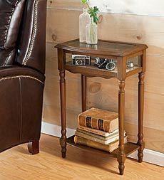 wood-curio-table