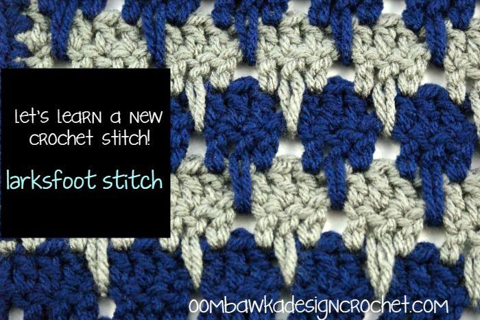 Larksfoot Stitch Afghan Square   Aprender crochet, Puntadas y Puntos ...