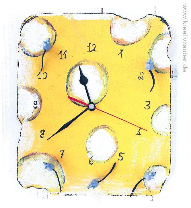 Uhr basteln anleitung  Maus Uhr basteln ☆ inklusive Anleitung, Rohling aus Holz, kleine ...