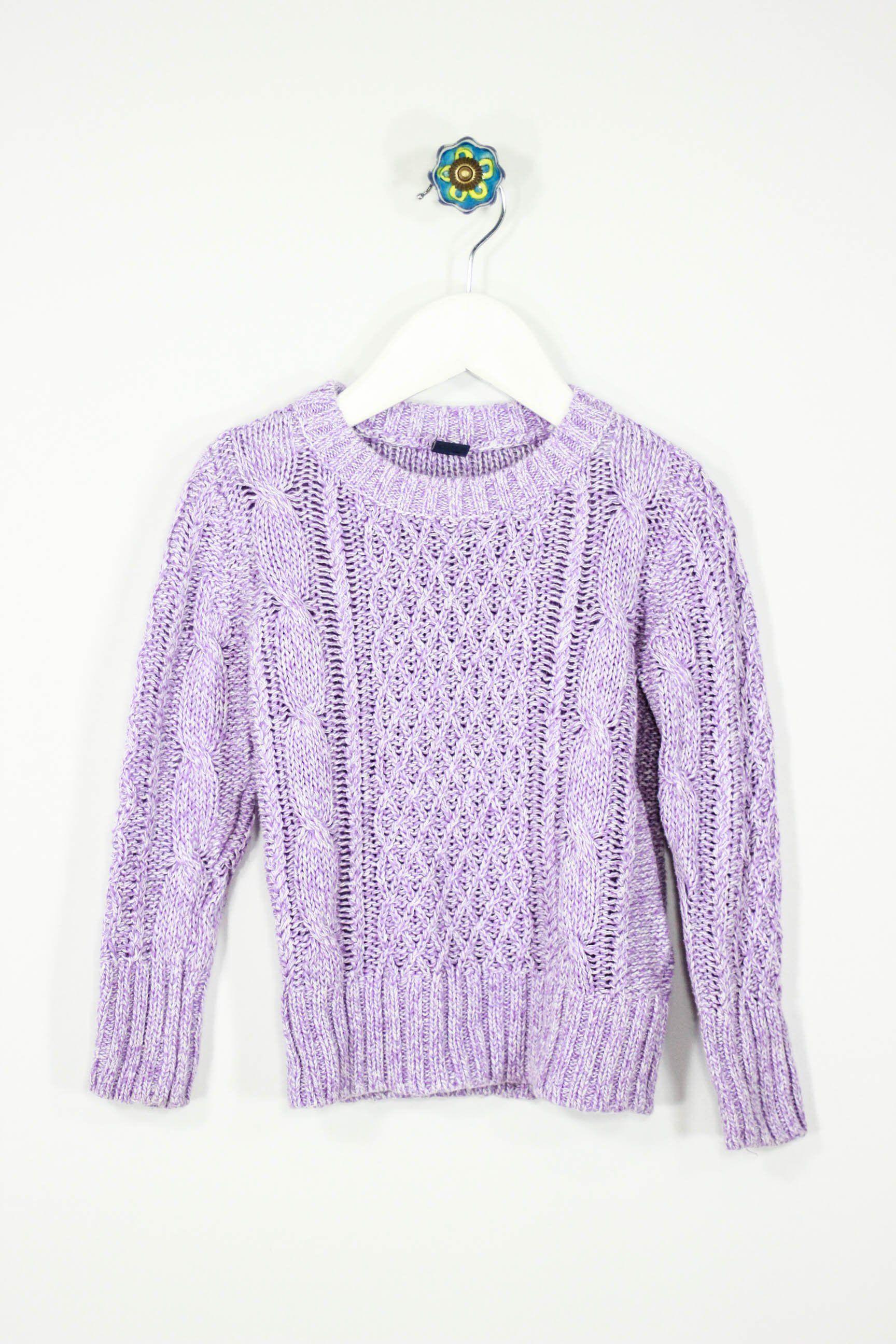 61508f764 Baby Gap Size 4 Purple Sweater