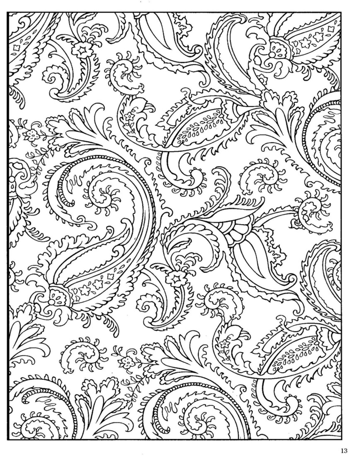 Paisley Coloring Page 85 Paisley Pinterest Paisley design