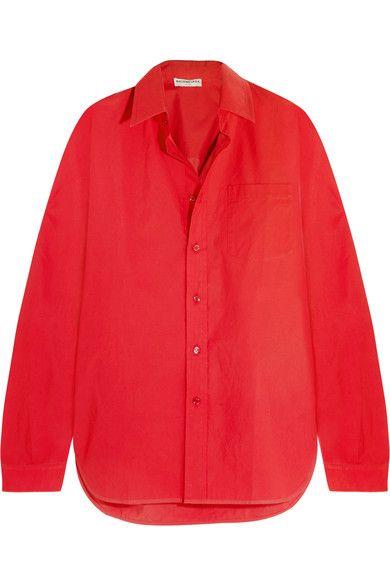 BALENCIAGA Oversized Cotton-Poplin Shirt. #balenciaga #cloth #tops