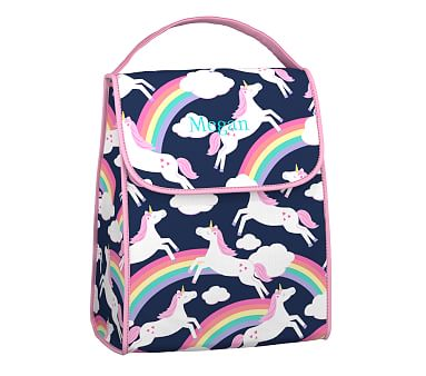 Children/'s Animal Reusable and Insulated Dolphin Lunch Bag Picnic Snack Sack
