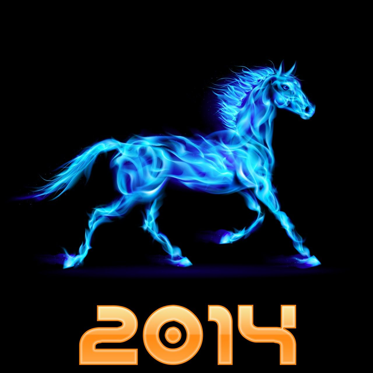 I Wish You Merry Christmas And Happy New Year 2014 Happy New Year 2014 Year Of The Horse Happy New Year Fire horse chinese new year free hd