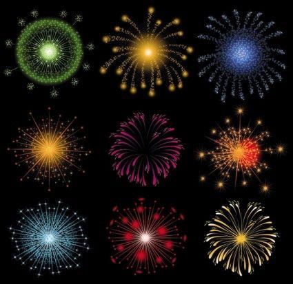 vector 2 brilhante fireworks fogos de artifício