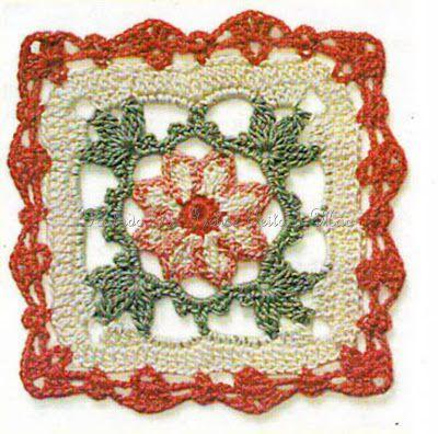 Square De Croch Free Diagram Crochet Squares Circule