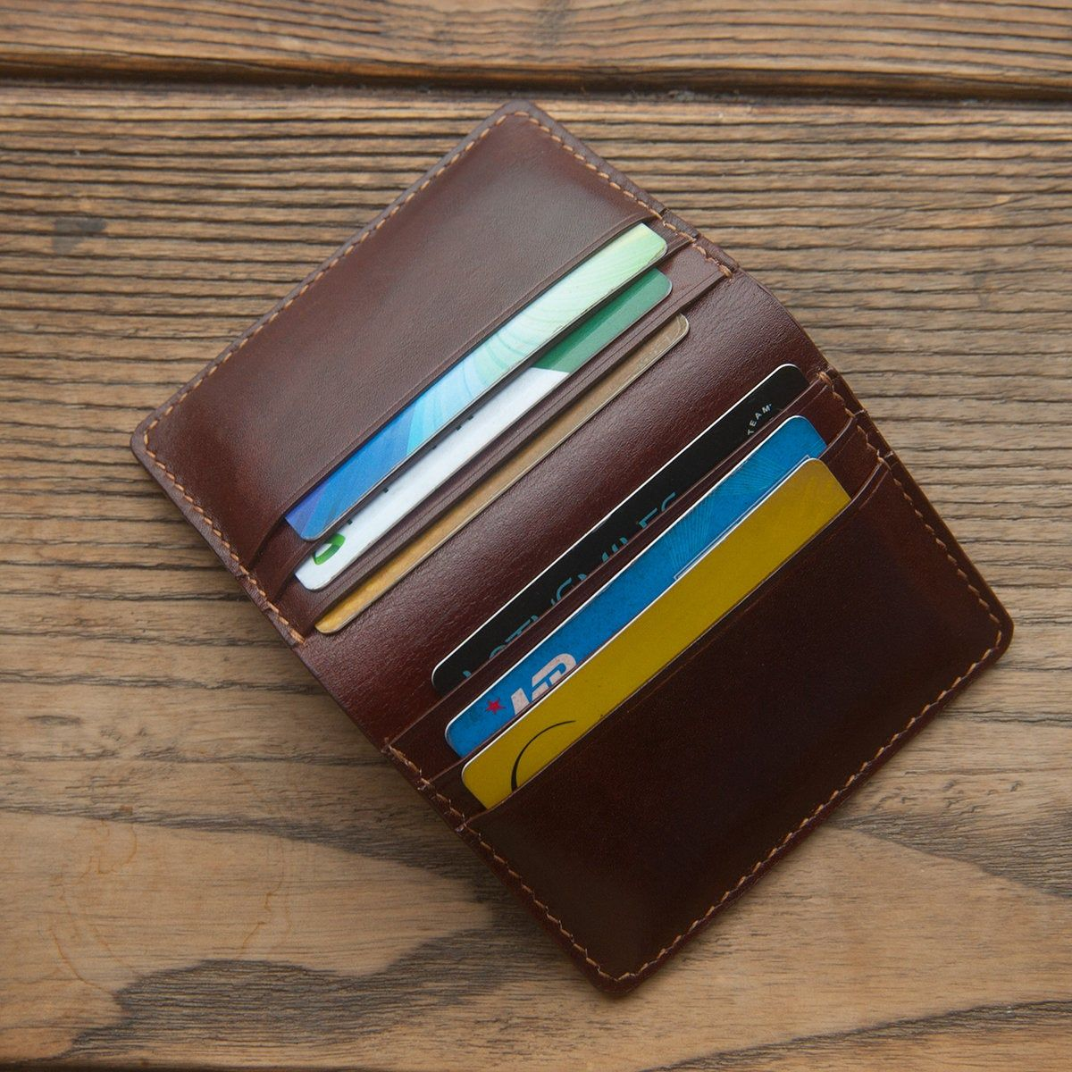 Handmade Leather Wallet Business Card Cases Card Holder Etsy Handmade Leather Wallet Leather Card Wallet Leather Business Card Case