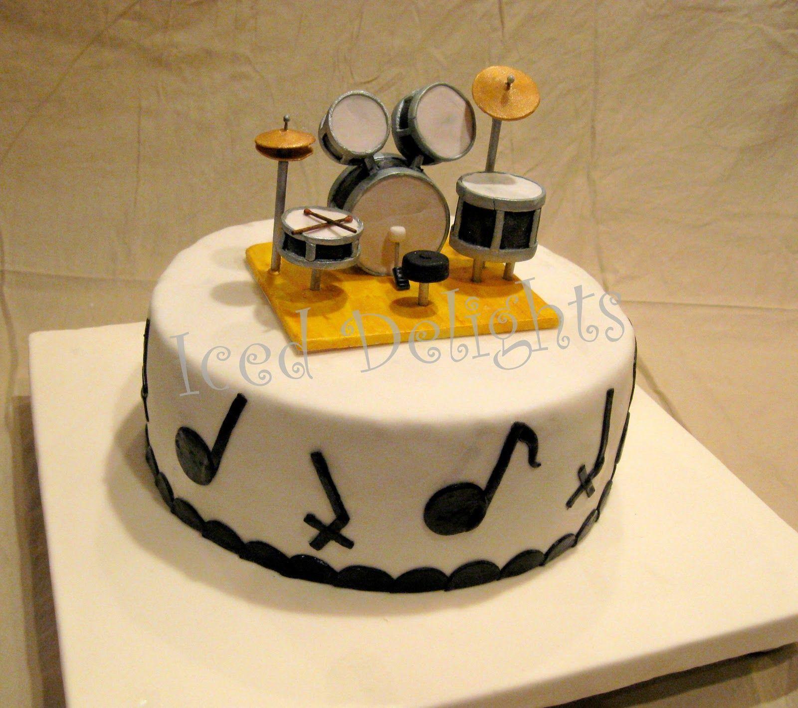 Gâteau Au Chocolat Glaçage Aux épices: Drum Fondant Cake - Google Search