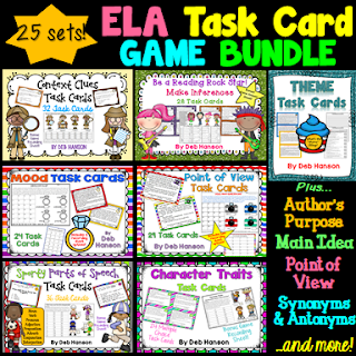 Turning Task Cards into a GAME! Ela task cards, Task