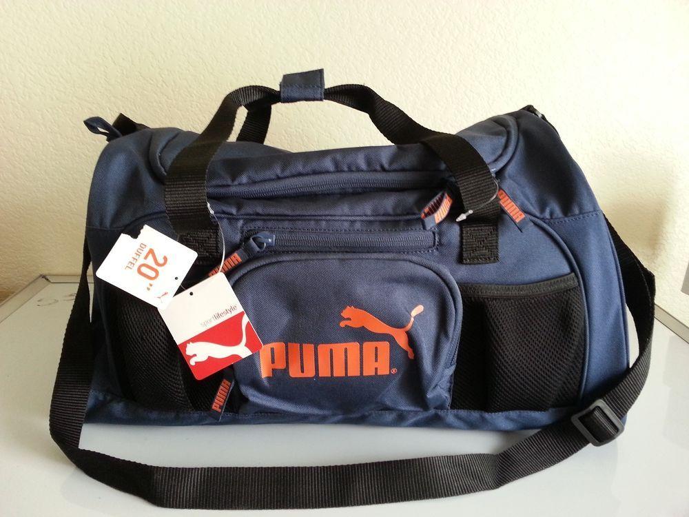 6c62870474 PUMA men Duffel Gym Bag Gym blue  puma  gymbag  ebay