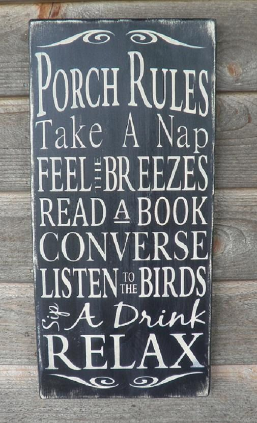 Porch Rules Wood Sign Patio Rules Sign Outside Decor Etsy Porch Rules Sign Distressed Signs Porch