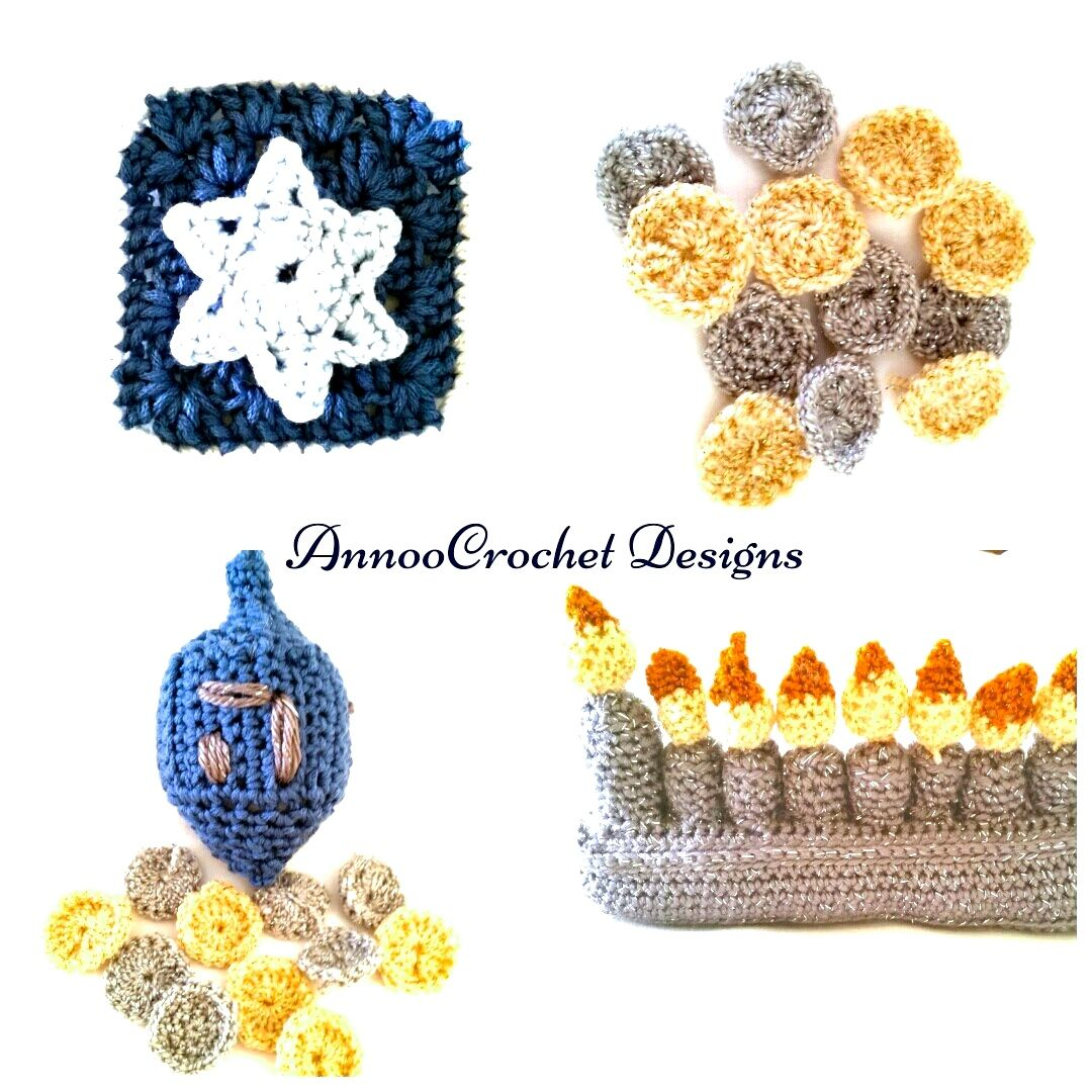 Free Hanukkah Crochet Decorations By Annoocrochet Designs