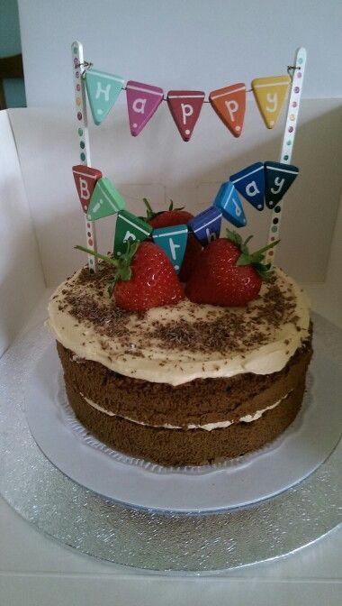 Chocolate cake, dulce de leche icing