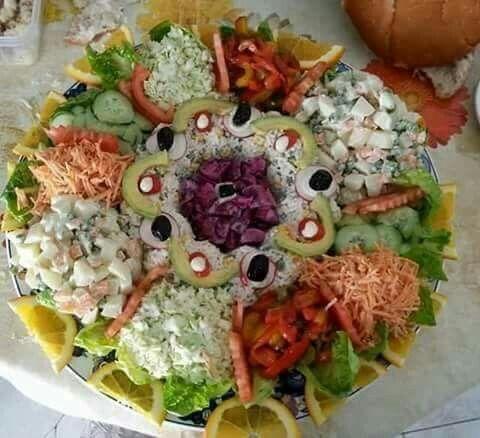 Salade marocaine i cook pinterest salade for Entree crudite originale