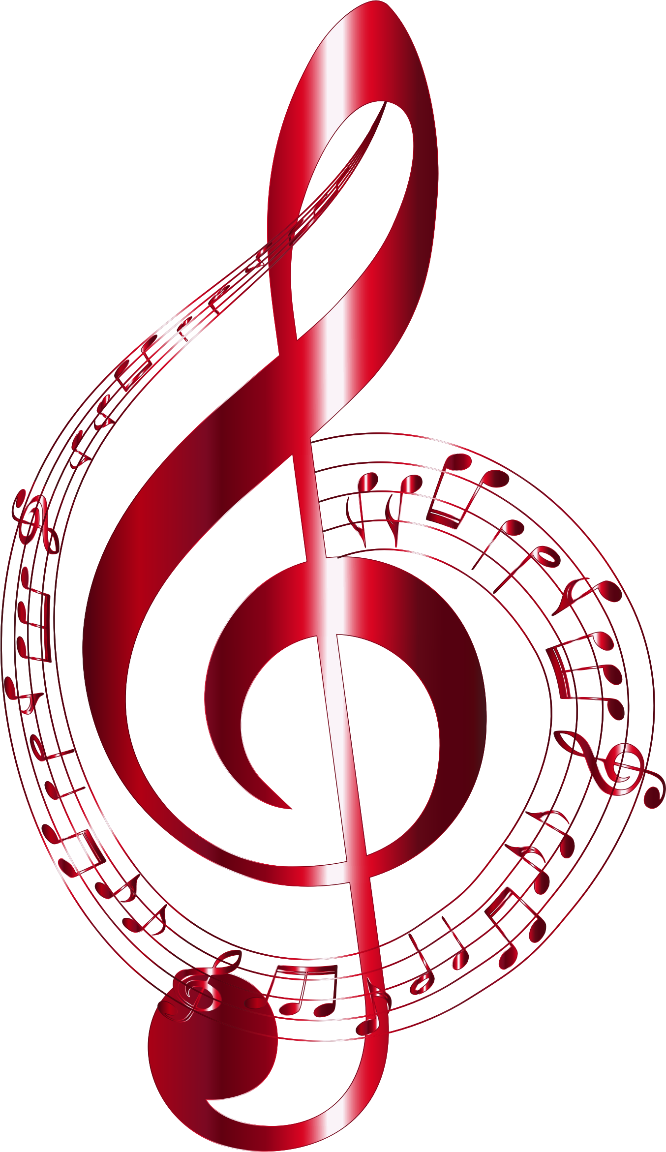 Music Notation Notes Vermilion Musical Notes Typography No Background By Gdj
