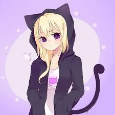 Girl With A Cat Hoodie Anime Cat Girl Animated Characters