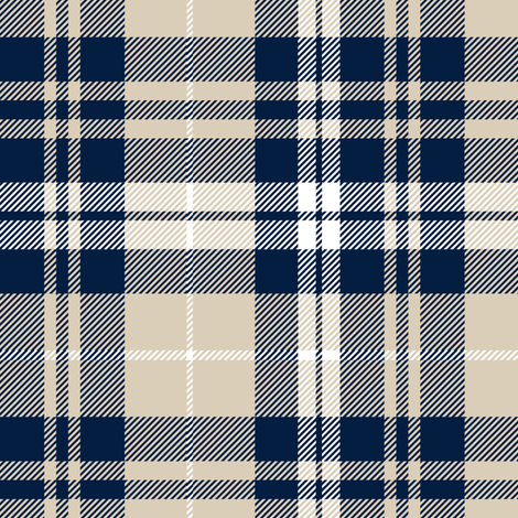 Stupendous Fall Plaid Navy Tan White Custom Fabric By Gamerscity Chair Design For Home Gamerscityorg
