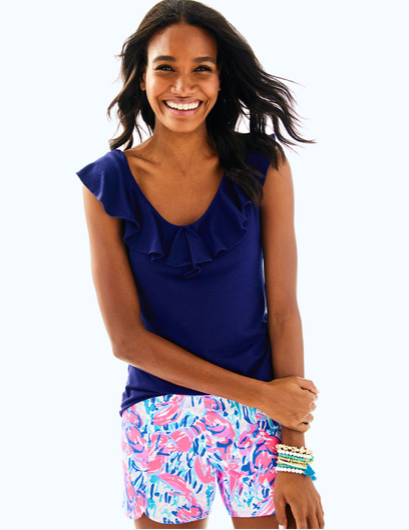 07cd3e6e26a862 Lilly Pulitzer Alessa Top - True Navy | Products | Tops, Skirt ...