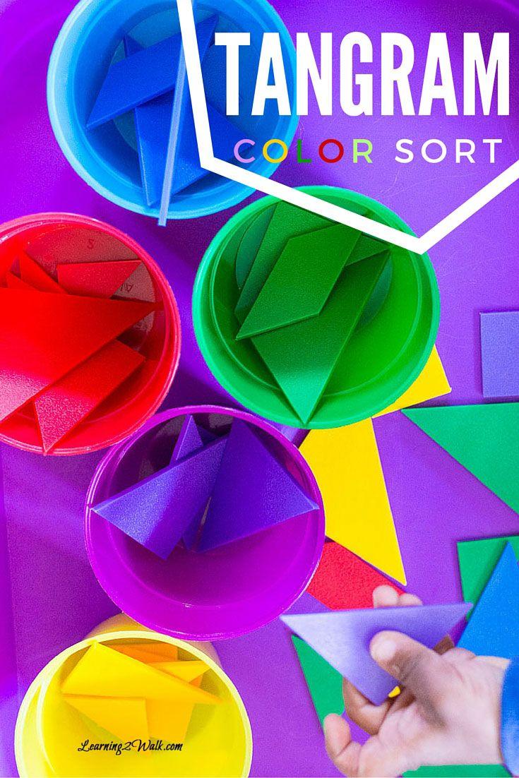 Tangram Color Sort | Activities, Homeschool and Math