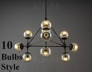 10 Globe Jason Miller Modo Chandelier Replica Light Lamp Pendant