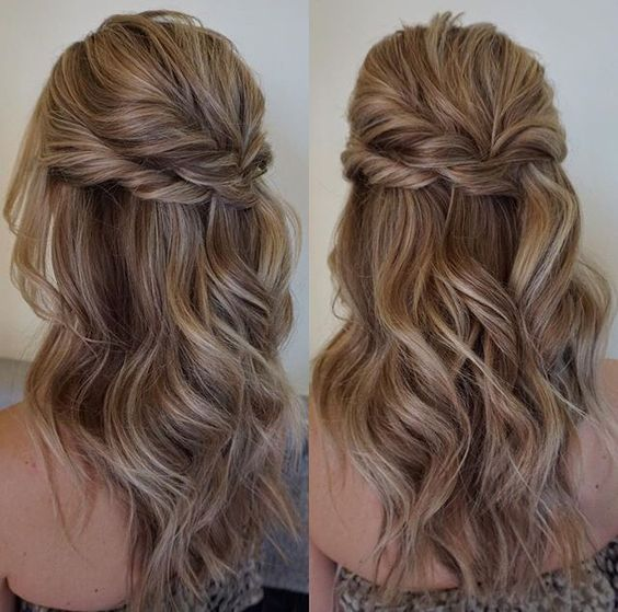 Beautiful Half Up Half Down Hairstyles Hair Wedding Hairstyles