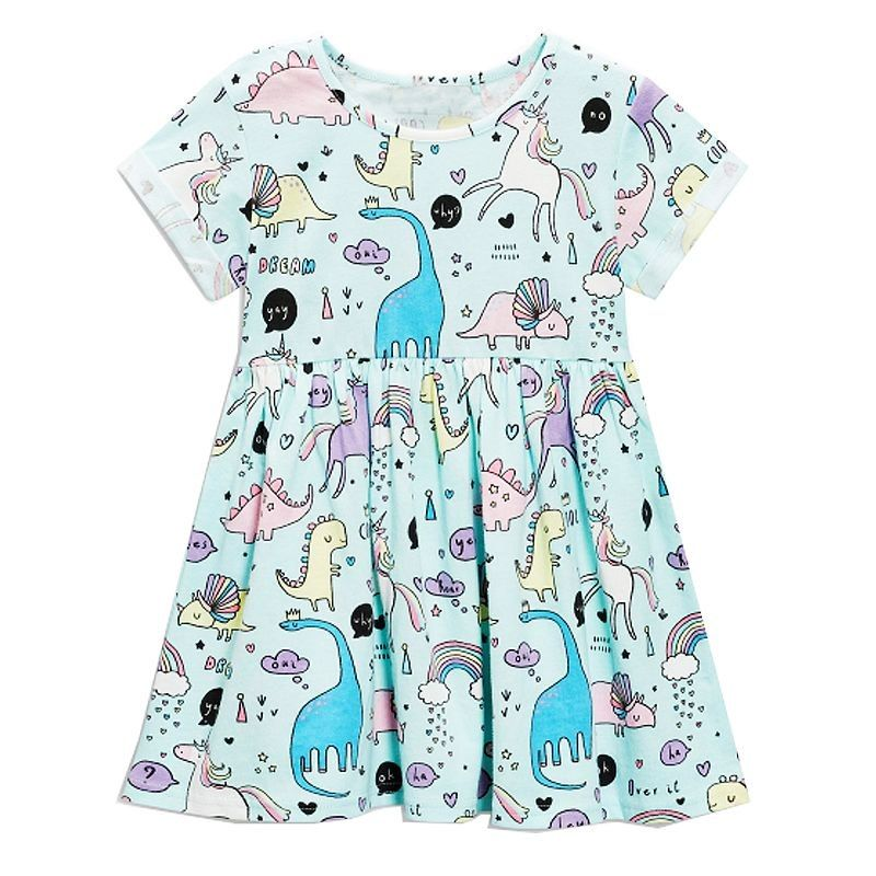 Kurzarm-Kleid für Mädchen | Kleinkindbekleidung, Mädchen ...