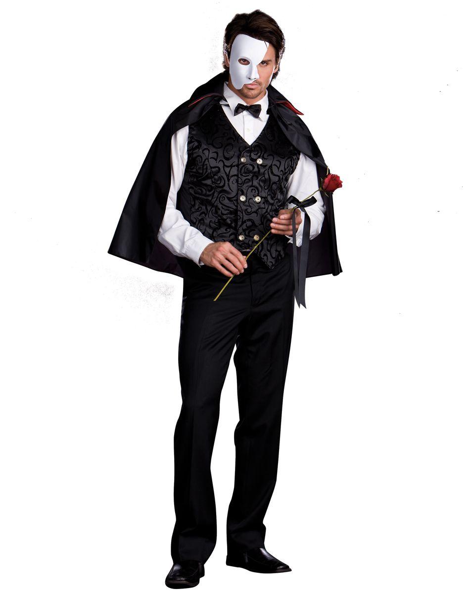 mysterious phantom adult mens costume – spirit halloween | costumes