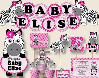 Download Now Free Printable Zebra Baby Shower Invitation Template