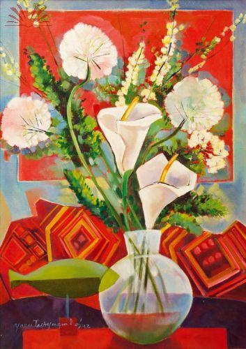 Artista :Yara Tupynamba - Yara Tupynambá Gordilho Santos  Título :Dois copos de leite  Técnica :Acrílica sobre tela  Ano :1992