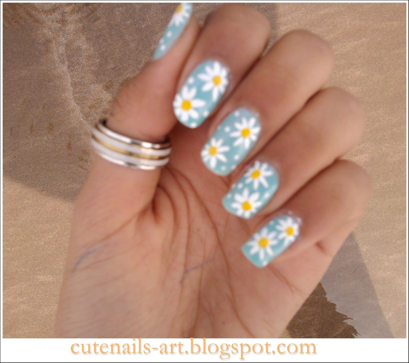 Sparkly Sunday | Daisy nail art, Daisy nails and Spring nails