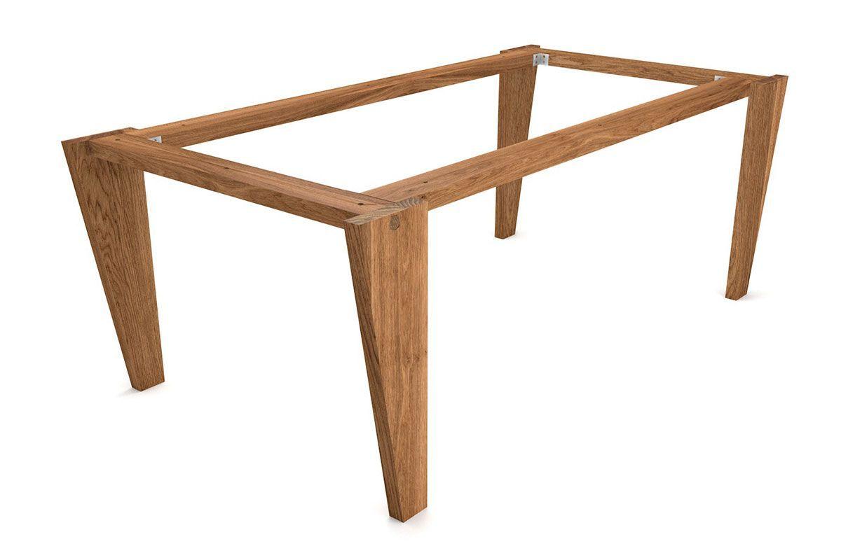 Tischgestell Selbsttragend Aus Holz Massiv Auf Mass Bestellbar Tischgestell Tischbeine Holz Tisch