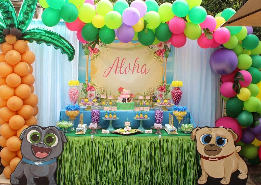 Puppy Dog Pals Hawaii Pug O Luau For Gianna S 2nd Birthday