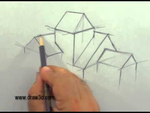 Mark Kistler Teaches How To Draw A House With Many Roof Lines And Multiple  Floors And