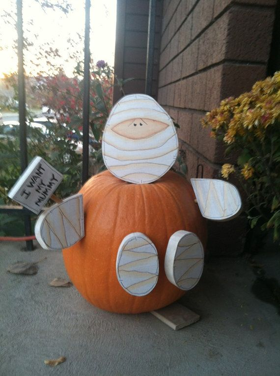 mummy pumpkin Halloween Decorations Pinterest - halloween crafts decorations