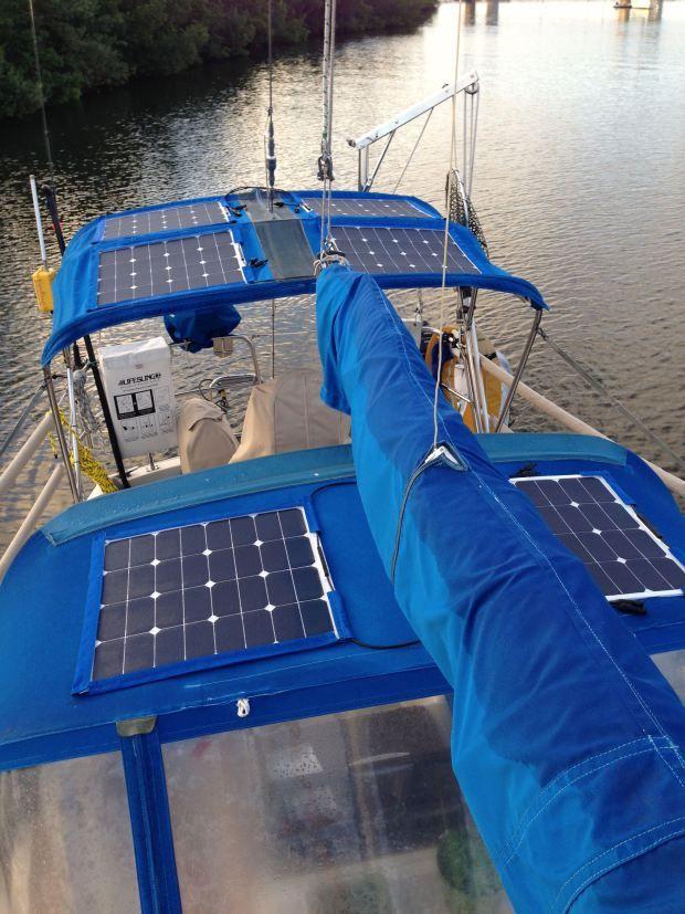 Sewing Sailing Journey Flexible Solar Panels Solar Panels Sailboat Living