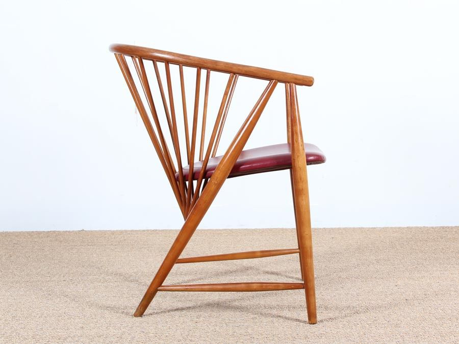Exceptional Mid Century Swedish Beech Armchair, 1950s