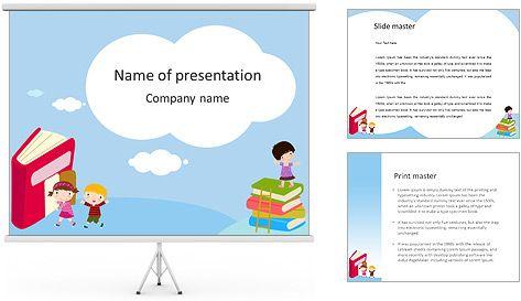 Niños y libros dibujados Plantillas de Presentaciones PowerPoint y ...