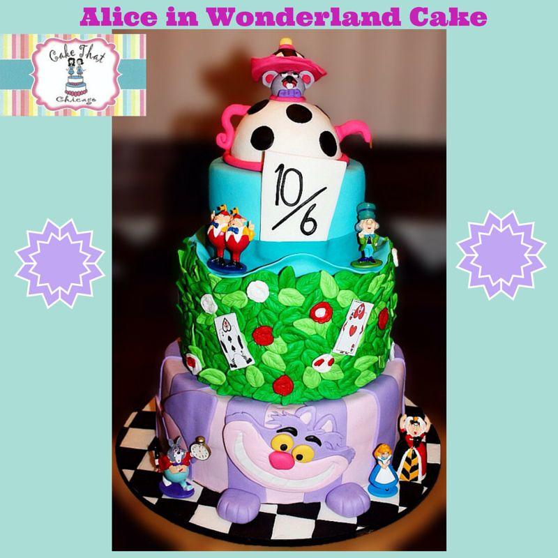 Alice in wonderland cake alice