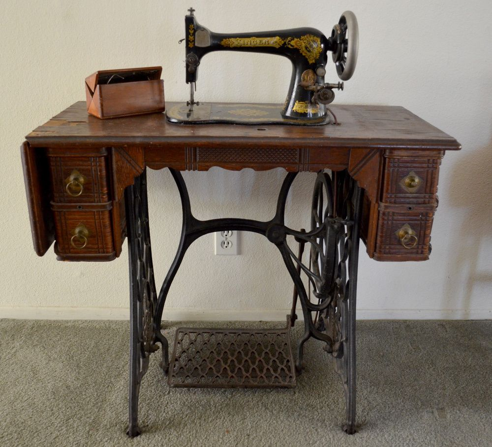 How to Date a Vintage Sewing Machine Cabinet