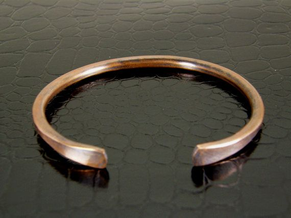 a311ea162f1 008 Heavy Hammered Copper Bangle Bracelet, Men's Copper Bracelet, Thick  Womens Copper Bangle Bracelets