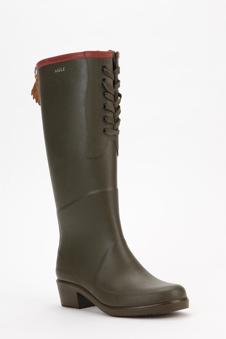 Shop AIGLE Miss Juliette Lace-Up Rain Boot at Urban Outfitters today. We  carry all the latest styles, colors and brands for you to choose from right  here.