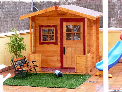 Green house infantiles carpinteria pinterest casa de for Casa madera infantil