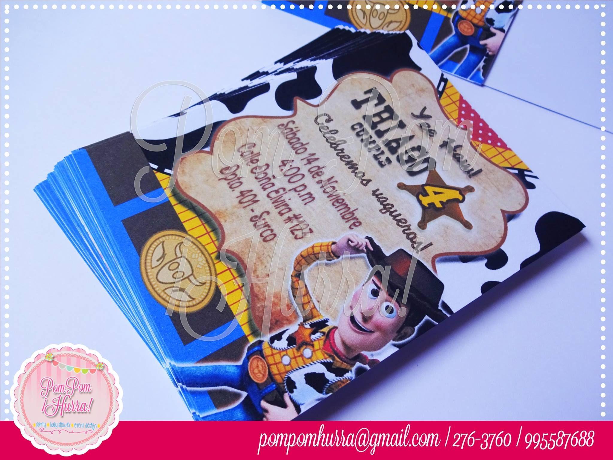 Woody Invitation, Invitacion Woody, Toy Story | Toy Story ...