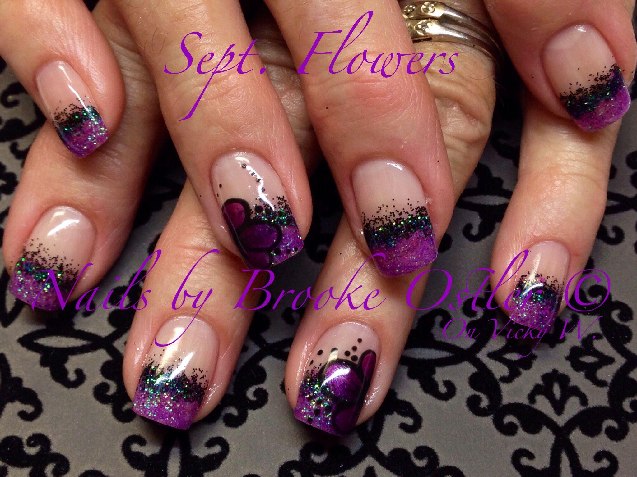 Halloween nails | Purple nails, Halloween nails, Toe nail ...