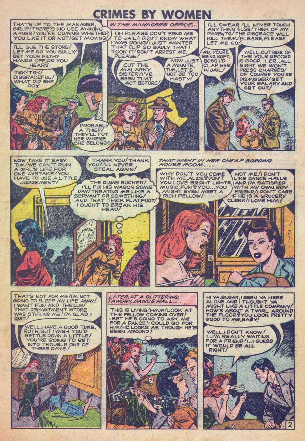 Comic Book Cover For Crimes by Women #7 - Version 2 | comic strip