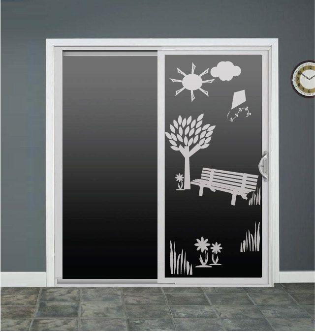 Nature Tree Glass Door Decals Sliding Door Decal Door Stickers Window Decals Tree Flowers By Roomsbyangie On E Etched Glass Vinyl Window Stickers Door Stickers