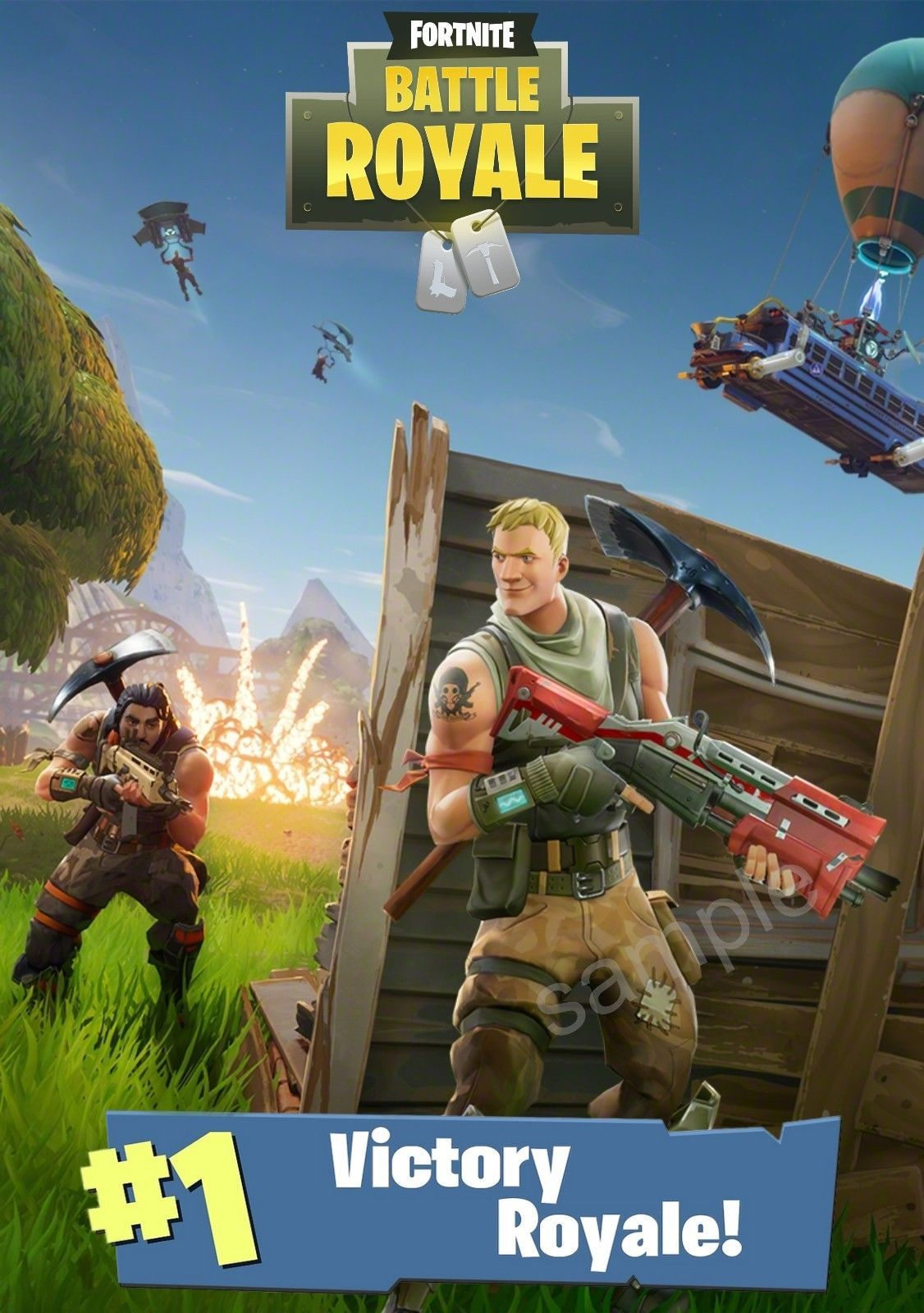 Fortnite Battle Royale Poster Size A3 Free Postage Hunter S Gaming