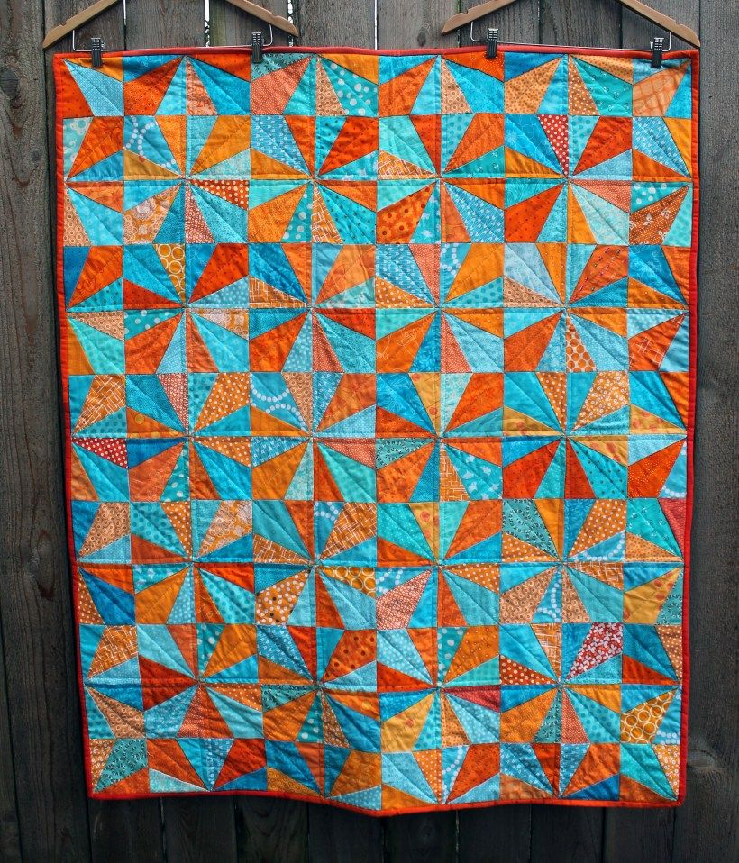 squares complete peel orange top quilts triangles quilt and