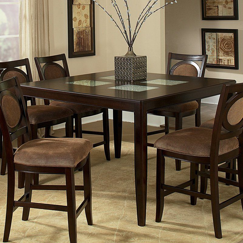 Steve Silver Montblanc Counter Height Dining Table With Crackle New Dining Room Sets In Ct Decorating Design