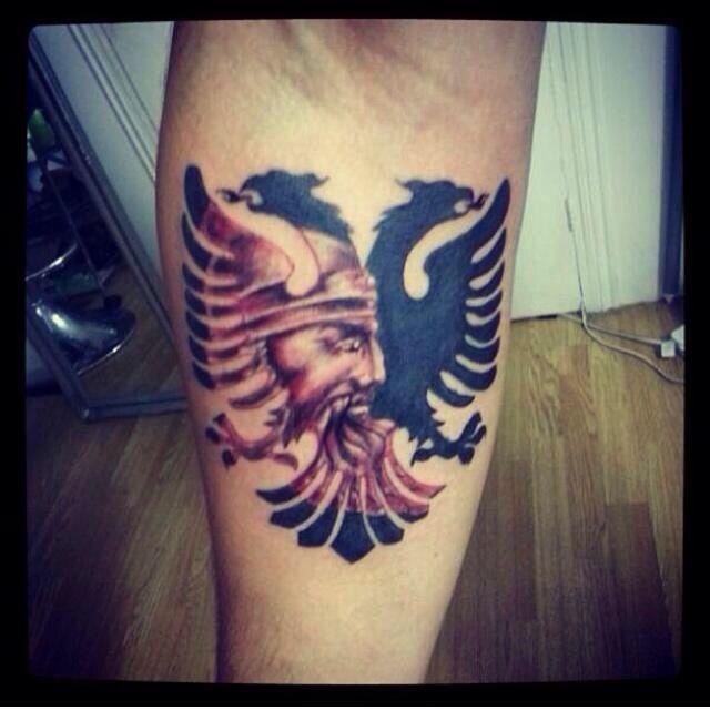 double headed albanian eagle tattoo sick shqiponja shqiptare got ink tatuazhe pinterest. Black Bedroom Furniture Sets. Home Design Ideas